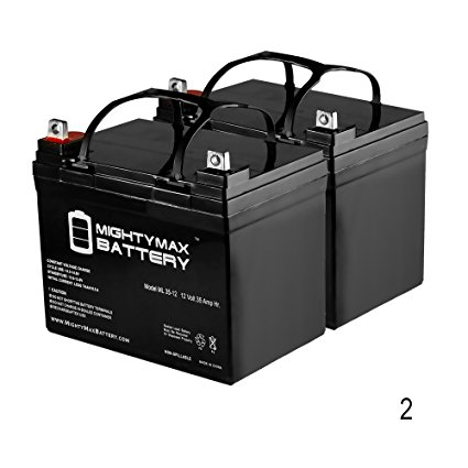 Mighty Max Battery 12V 35Ah Pride Revo 3w SLA Sealed Lead Acid Battery - 2 Pack brand product